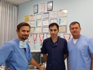 Мастер-класс по ЭВЛО для сердечно-сосудистого интервенционного хирурга из Калуги Секинаева В.Ф.